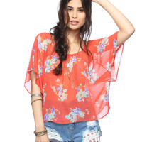 Sheer Floral Bouquet Top