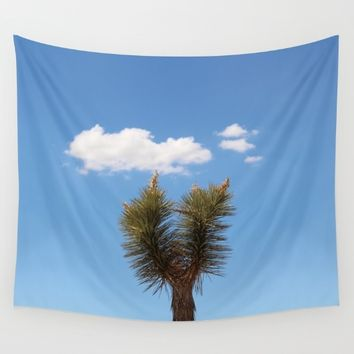 Lonely Joshua Tree Wall Tapestry by Emma