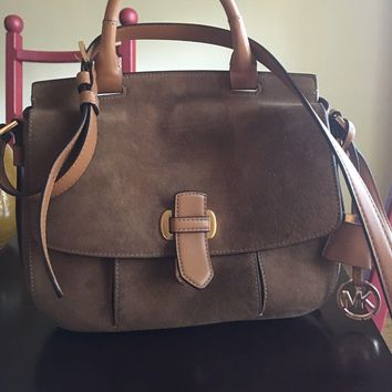 Michael Kors Leather And Suede Crossbody Bag, Authentic