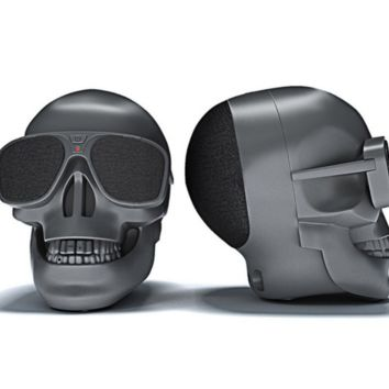 Skull Bluetooth Speaker with LED Eyes & Surround Sound