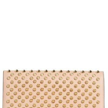 Christian Louboutin 'Macaron' Studded Leather Continental Wallet | Nordstrom