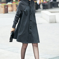 Loose fit, Casual fashion winter women coat, long sleeve coat jacket for women