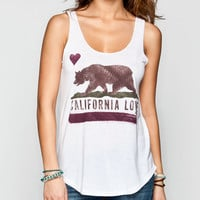 Billabong Famous Bear Womens Tank White  In Sizes
