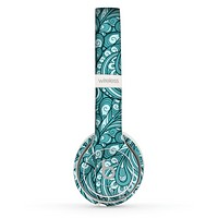 The Abstract Blue Feather Paisley Skin Set for the Beats by Dre Solo 2 Wireless Headphones
