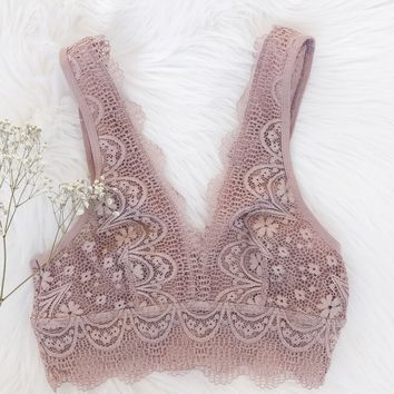 Madison Bralette - Rose
