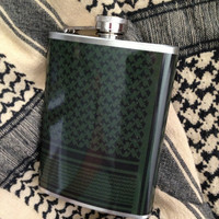 Shemagh Keffiyeh Scarf Stainless Steel Hip Flask