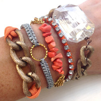 Coral Summer Arm Candy Bracelet Stack