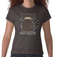 Ninja Raccoon! T-shirt from Zazzle.com