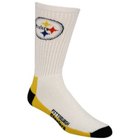 NFL Pittsburgh Steelers Men's Crew Socks, Large