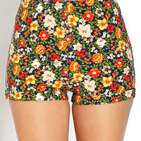 Groovy Floral Knit Shorts