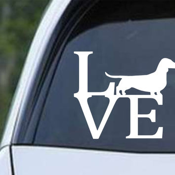Dachshund Weiner Dog Love Die Cut Vinyl Decal Sticker