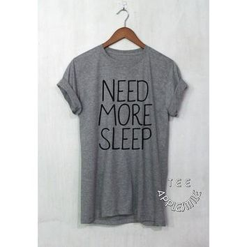 Women Sexy Casual O-neck Letter print O-neck T-shirt Grey Tops [8805190087]