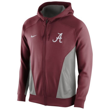 Alabama Crimson Tide Nike Basketball Full Zip Performance Hoodie – Crimson