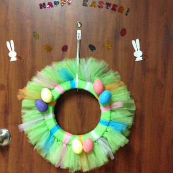 Tulle Wreath - Easter