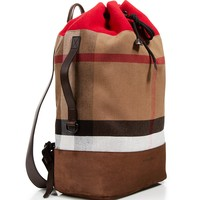 Burberry Brit Brock Military Check Camping Patchwork Backpack