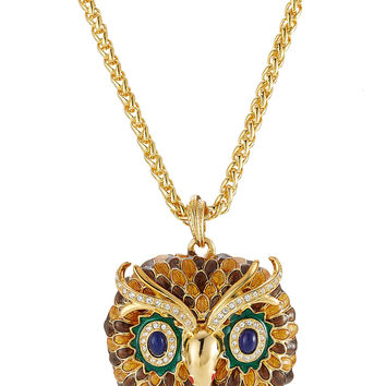 Embellished Owl Necklace - Kenneth Jay Lane | WOMEN | US STYLEBOP.COM