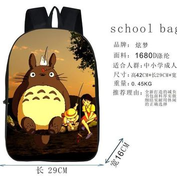 Cool Attack on Titan 1 piece DIY anime My Neighbor Totoro printting Naruto Black Butler  durable bag schoolbag Backpack AT_90_11