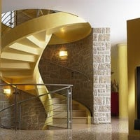 Self supporting helical cement Spiral staircase ELI CA by RIZZI SCALE