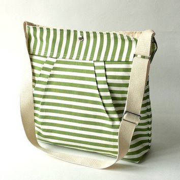 Water resistant /STOCKHOLM Apple Green and white8 by ikabags