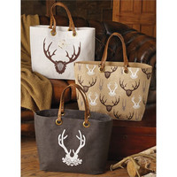 Staghorn Jute Totes by Mud Pie