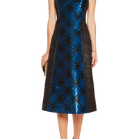 Mary Katrantzou Sequined metallic jacquard dress – 50% at THE OUTNET.COM