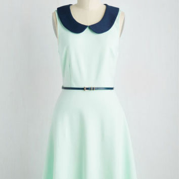 Work to Play Dress in Seaglass