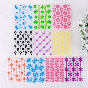 Colorful Flower Pattern Plastic Embossing Folders for DIY Scrapbooking Paper Craft/Card Making Decoration Supplies #232803