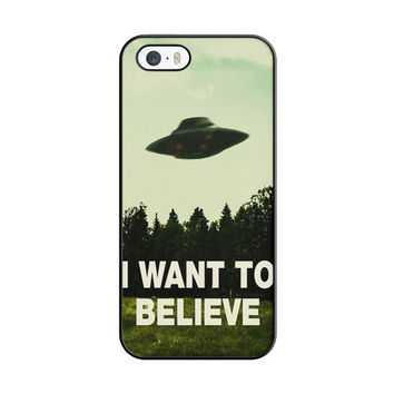 I Want To Believe Ufo Aliens iPhone 5|5S Case