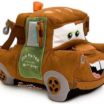"Licensed cool 12"" DISNEY Store CARS 2 TOW MATER SPY PLUSH TOW TRUCK Authentic Patch New w/tag"