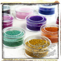 1 Box of 12 Colors 0.8 mm Glitter Small Mini Tiny Micro Beads Balls Fake Faux Sprinkles -Nail Art Miniature Topping Deco (SS.MB12)