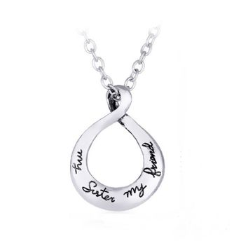 Magic Ikery Popular Simple Letters Best Friends Forever Pendant Necklace