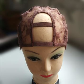 "2""*4"" U Part Wig Cap For Making Wigs Left/Centre/Right Parting With Adjustable Strap Glueless Weaving Cap"