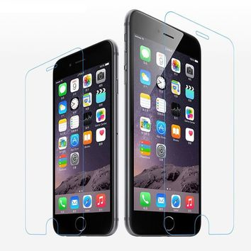 Tempered Glass Crystal Front Screen Protector for Iphone 4S 5 5S 5C SE 6 6S 7 8 Plus X Protective Film Shock Dirt Resist Protect