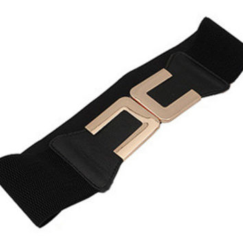 Elastic Waist Belt in Black