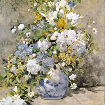 Spring Bouquet Poster by Renoir