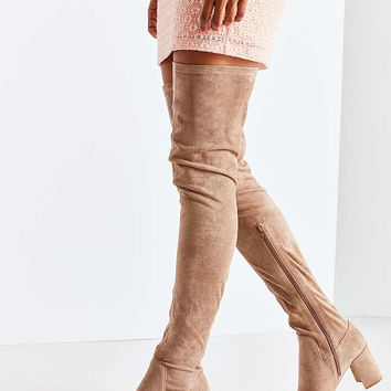 Jeffrey Campbell Cienega Tan Over-The-Knee Boot | Urban Outfitters