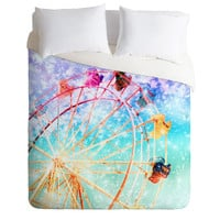 Lisa Argyropoulos Galaxy Wheel Duvet Cover