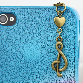 3.5mm Retro Bronze Modern musical symbols Dust-proof Plug  for iphone 4s,iPhone 4,iPhone 3gs,iPod Touch 4,HTC,Nokai,Samsung,Sony