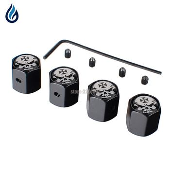 Car Styling Skull Wheel Tire Valve Stems Caps Anti-Theft Cover For Fiat Dacia Duster Mercedes W203 Peugeot 3008 Bmw E34 Mazda 6
