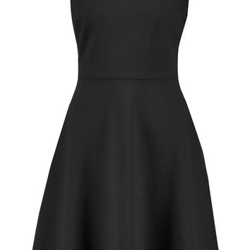 Glitter-trimmed stretch-cady dress | Maje | US | THE OUTNET