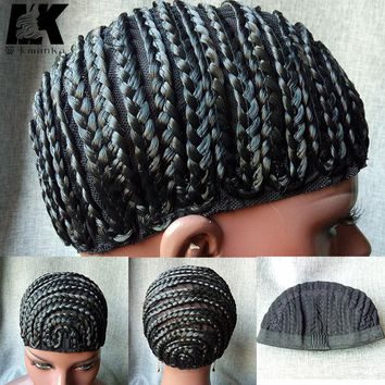 5pcs Synthetic Braid Cap Crochet Braid Glueless Wig Caps For Braiding Hair