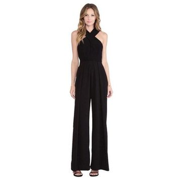 PEAPIX3 Women's apparel sexy overalls wide-legged pants trousers suspenders = 1838458308