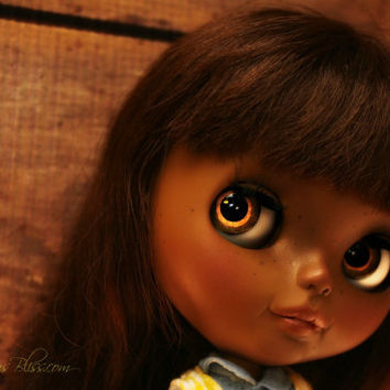Celine, OOAK Beautiful Brown Blythe Ethnic Custom Art Doll #29