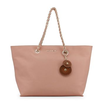 Blu Byblos Pink Synthetic Leather Shopping Bag