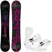 K2 Bright Lite 151 Womens Snowboard + Sapient Zeta Bindings - Fits Boot Sizes: 6,7,8,9