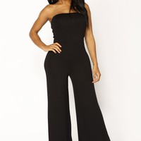 Breanne Tube Jumpsuit - Black