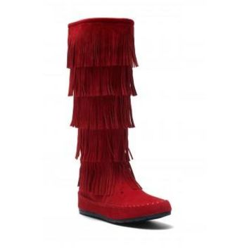 Rose Moccasin Boots