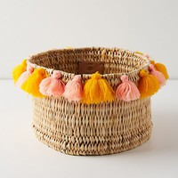 Tasseled Basket