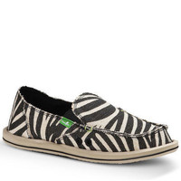 Sanuk On the Prowl Metallic Zebra Slip-On Sidewalk Surfers