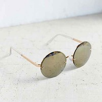 Golden Goddess Rimless Round Sunglasses